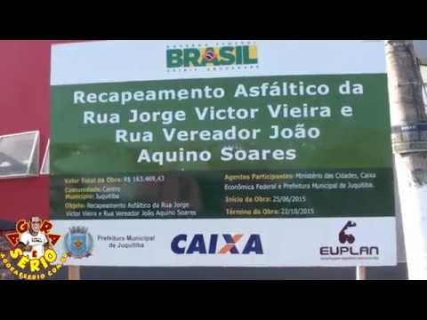 Placa do recapeamento das Ruas Jorge Victor Viera e João Aquino Soares