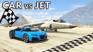 GTA V - Car vs Jet [Drag Race]