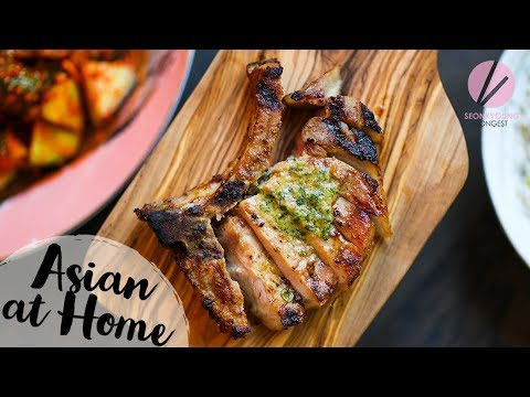 Miso Butter Grilled Pork Chops
