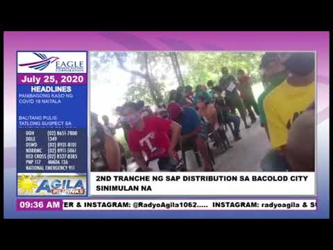 [EagleNewsPH]  2nd tranche ng SAP distribution sa Bacolod City, naibigay na