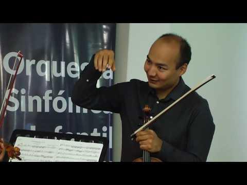 Video: Jóvenes salteños con el violinista ruso Erzhan Kulibaev