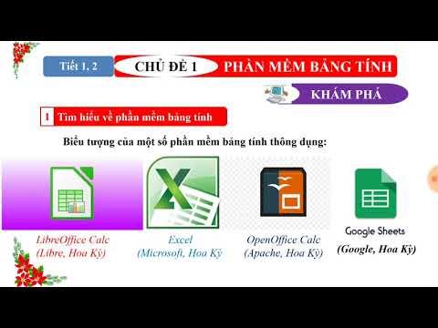 Chủ đề 1. Phần mềm bảng tính