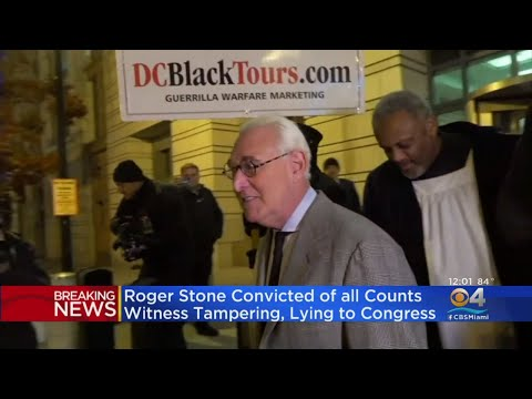 Trump Ally Roger Stone Found Guilty On All Counts