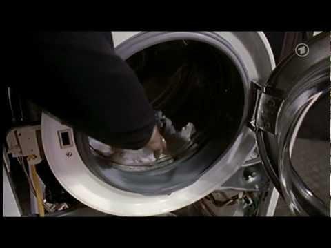 Wie eine Waschmaschine die Wäsche wäscht
