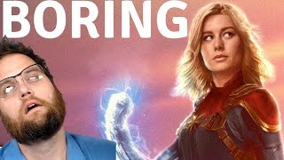 Captain Marvel Trailer Reaction! Brie Larson Bored At The Grocery Store