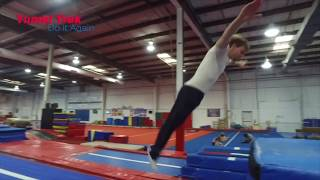 Gymnastics Trampoline Tutorials Front Twisting Progressions for Beginners