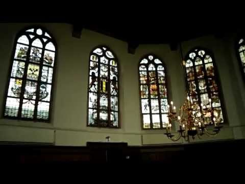 "The church ""Grote Kerk"" in De Rijp (Netherlands) is known for its 17th-century stained-glass windows"