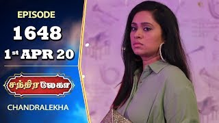 CHANDRALEKHA Serial | Episode 1648 | 1st Apr 2020 | Shwetha | Dhanush | Nagasri | Arun | Shyam