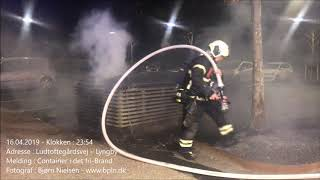 16.04.2019 – Ild i flere container og cykler – Lyngby