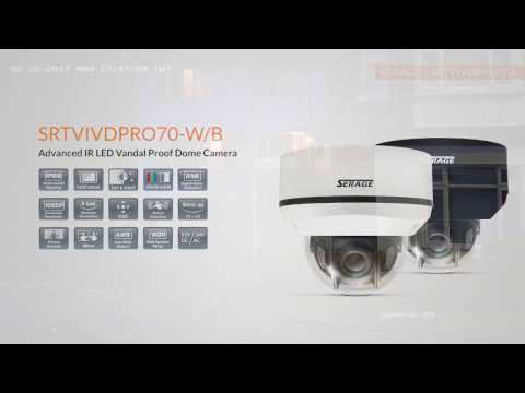 SERAGE SRTVIVDPRO70 | The Advanced IR LED Vandal Proof Dome Camera