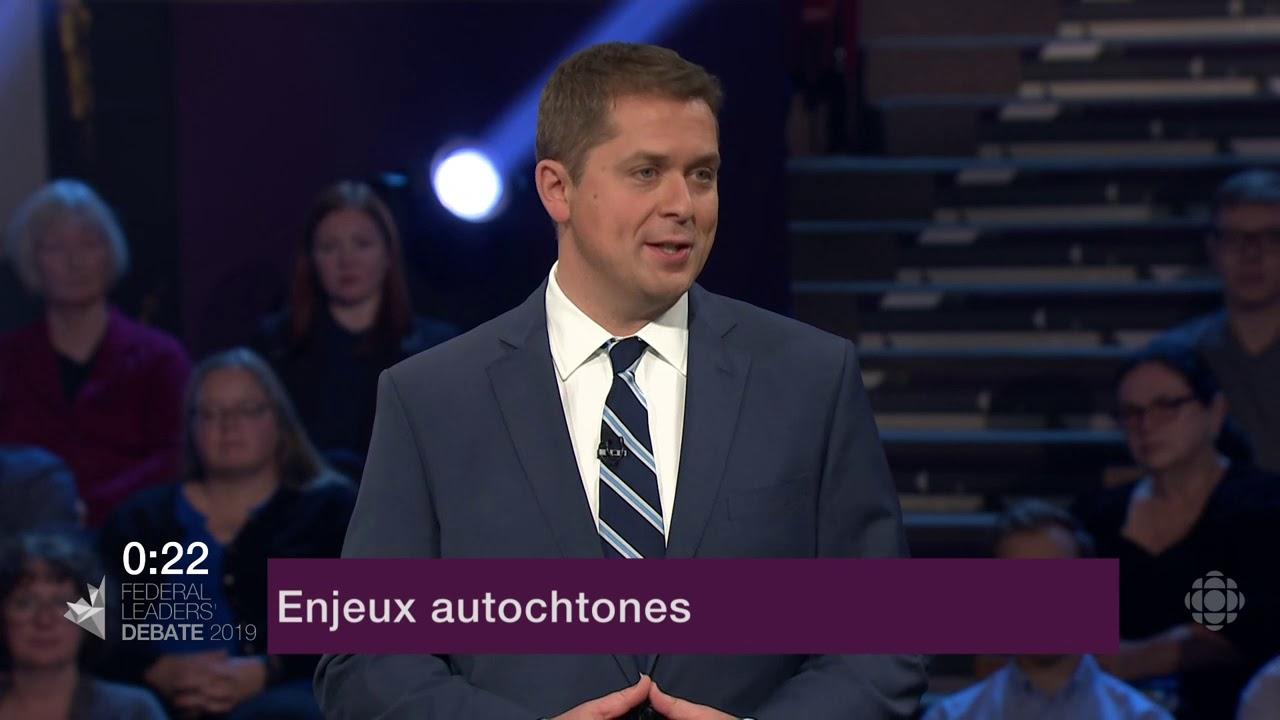 Andrew Scheer répond à la question d'un citoyen sur la réconciliation avec les Autochtones
