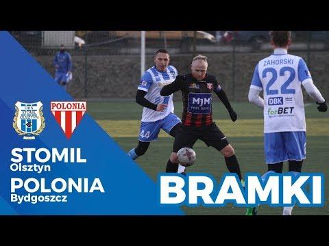 Bramki z meczu Stomil Olsztyn - Polonia Bydgoszcz 3:0