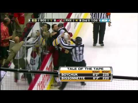 Johnny Boychuk vs Paul Bissonnette