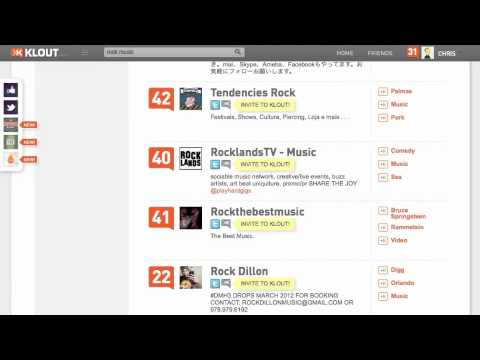 Using klout for the music business…
