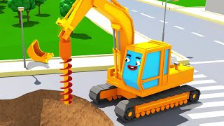 Bagger Kinderfilm - Der GELBE BAGGER Spielt - Super Sammlung - Cartoon für Kinder