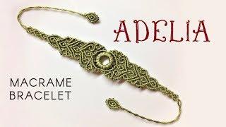 Macrame Bracelet Tutorial - The Adelia - Simple But Elegant Macrame Pattern