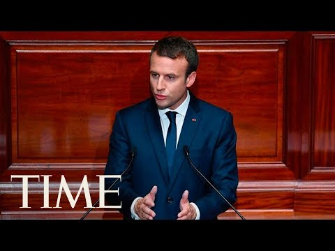 Emmanuel Macron Addresses The Joint Session Of Congress: Discusses Nationalism, Fear   TIME