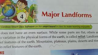 Major Landforms : Class 5 : L-4 Part-2 : Social Studies : ( Plateaus & Plains ) CBSE NCERT solutions