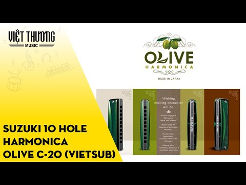 Suzuki 10 hole harmonica OLIVE C-20 (Vietsub)