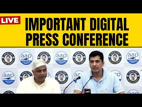 AAP Leader Saurabh Bhardwaj & Delhi Cabinet Minister Rajendra Pal Gautam addressing press conference