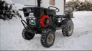 Diesel Mudding Tractor Cold Start & SNOW-ROMP!