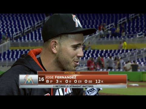 WSH@MIA: Fernandez on his dominant outing vs. Nats