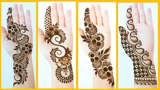 Top 4 New Easy Stylish Mehndi Designs For EID - Simple Mehendi Designs For Front Hands - Just Mehndi