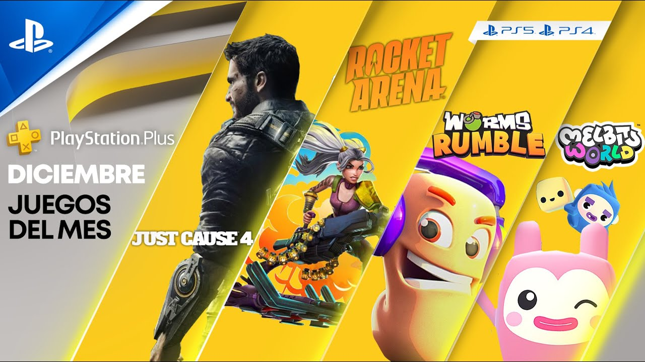 Worms Rumble, Just Cause 4 y Rocket Arena son tus juegos de PlayStationPlus para diciembre