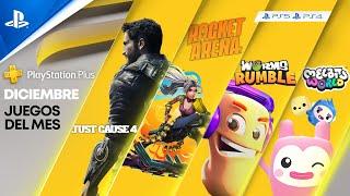 PlayStation NUEVOS JUEGOS de DICIEMBRE en PS PLUS - Just Cause 4, Rocket Arena, Worms Rumble, Bugsnax, Melbits anuncio