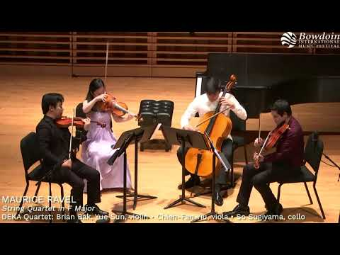 Ravel Quartet, 1st and 2nd mvt. excerpts. Performed by the Deka String Quartet.