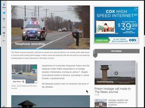 Hostage Situation at Delaware Maximum Security PRISON, Inmates call NEWS station?