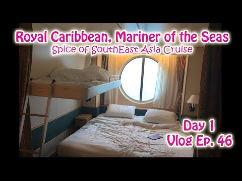 Day 1 Royal Caribbean Mariner of the Seas, Oceanview Stateroom tour | Singapore | Vlog Ep 46