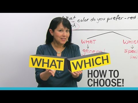 """WHAT"" or ""WHICH""? Learn How to Choose"