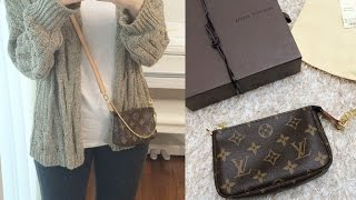 Louis Vuitton Mini Pochette Review,Monogram,What fits in?  +Corss strap