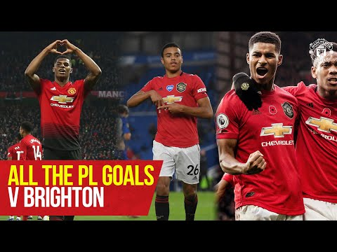 Every Premier League Goal v Brighton and Hove Albion | Manchester United