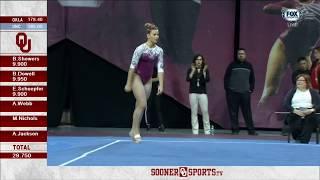Anastasia Webb (Oklahoma) - Floor Exercise (9.950) - North Carolina at Oklahoma 2018