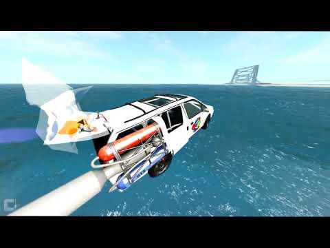 Agressive Water Sliding Crashes - BeamNG DRIVE CrashTherapy