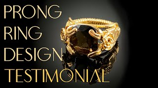 Wire Wrapped Ring-Faceted Prong Ring Tutorial Testimonial-Try It Out!
