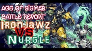 WH AoS 002 - Ironjawz vs Nurgle