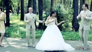 Веселый,классный и позитивный свадебный флешмоб!!!! (16.08.2014) Видеограф: Дмитрий Мунтяну