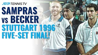 Pete Sampras vs Boris Becker: Classic Tennis Highlights | Stuttgart 1996 Final