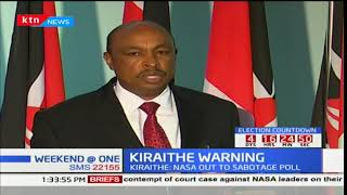 Government spokesman Eric Kiraithe links IEBC commissioners' resignation to NASA