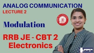 Analog Communication / Modulation - RRB JE Classes in English | CBT 2 | KPSC Polytechnic Lecturer