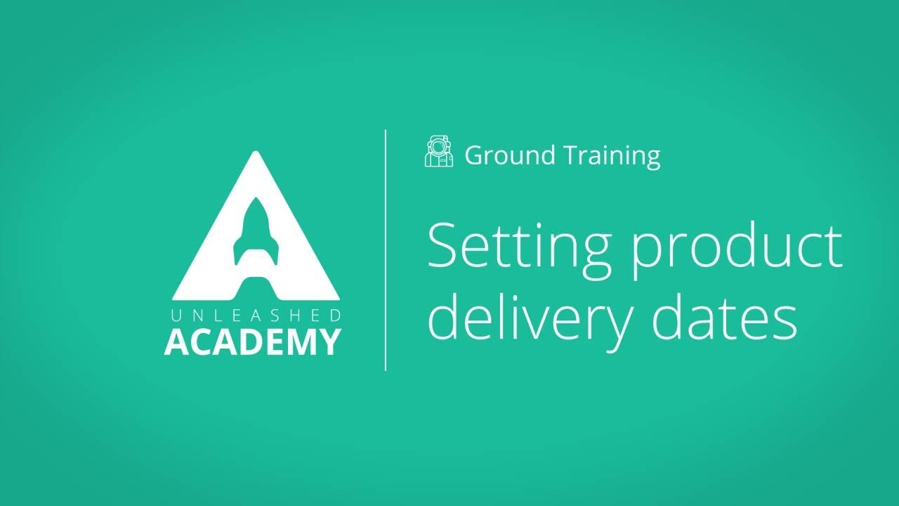 Setting product delivery dates YouTube thumbnail image