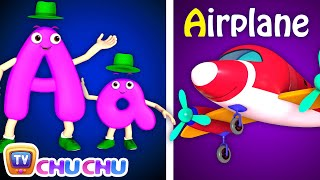 Phonics Song 2 with TWO Words in 3D - A For Airplane - ABC