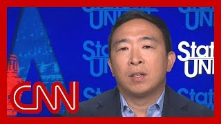 "In an interview with CNN's Jake Tapper, Democratic presidential candidate Andrew Yang said racial epithets hurt, but in the case of comedians, words should be taken in a different light. This comes after Yang jumped into controversy on Twitter by responding to Shane Gillis', a new cast member on ""Saturday Night Live,"" past racial remarks on a podcast. #CNN #News"
