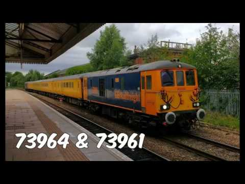 GBRf 73964 & 73961 on test train at Wrexham General Station …