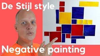 Negative Space Positive Space – Bart Van Der Leck De Stijl Painting