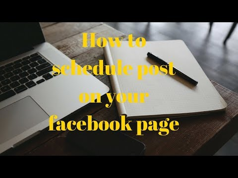 how to schedule post on your facebook page