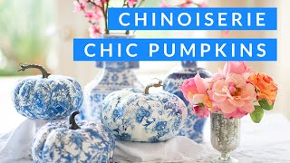 DIY How To Decoupage Chinoiserie Pumpkins